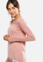 Cotton On - Long sleeve sports top - pink