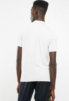New Look - Slim fit textured polo short sleeve - grey