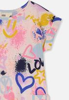 Cotton On - Greer short sleeve dress - multi