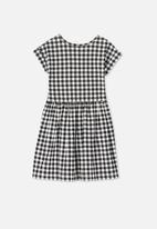 Cotton On - Nicola shorts sleeve dress - black & white