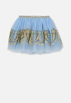 Cotton On - Trixiebelle tulle skirt - powder blue