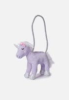 Cotton On - Plush animal bag - lilac