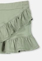 Cotton On - Caddies frill skirt - khaki