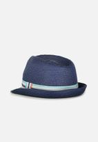 Cotton On - Trilby straw hat - navy