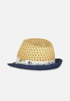 Cotton On - Trilby straw hat - natural