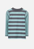 Cotton On - Fraser rash vest - blue & grey