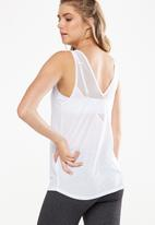 Cotton On - Mesh panel tank top - white