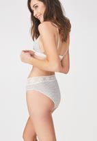 Cotton On - High waist super soft bikini brief - grey