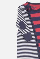 Cotton On - Mini zip through romper - navy & red