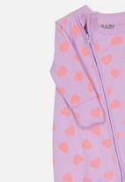 Cotton On - Mini zip through romper - purple