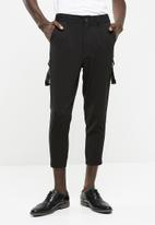 Only & Sons - Hampton loose cropped pants - black