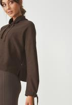 Cotton On - Tunnel neck long sleeve top - brown