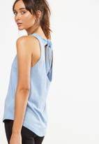 Cotton On - Scooped knot tank top - blue