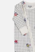 Cotton On - Mini zip through romper - white
