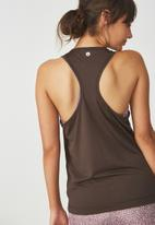 Cotton On - Tie front tank top - brown