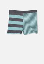 Cotton On - Billy boy leg swim trunk - blue & grey