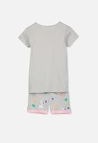 Cotton On - Chloe short sleeve girls pyjama set - grey