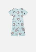 Cotton On - Joshua short sleeve boys pyjama set - blue