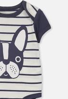 Cotton On - Mini short sleeve bubby - navy