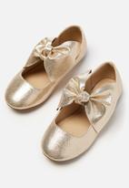 Cotton On - Kids girls knot ballet - gold