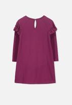 Cotton On - Kids Saturday long sleeve dress - purple