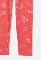 Cotton On - Huggie tights - red & pink