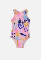 Cotton On - Lisette one piece swimsuit - pink