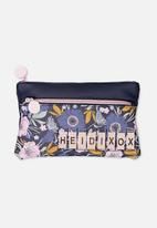 Cotton On - Personalised dual zip cosmetic case - blue