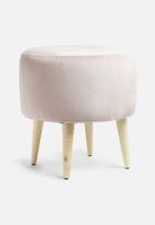 Sixth Floor - Artemis ottoman - blush pink