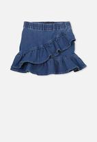 Cotton On - Caddies frill skirt - blue