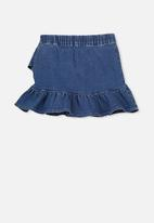 Cotton On - Caddies frill skirt - blue