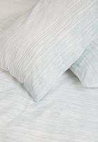 Sheraton - Stria duvet cover set - duck egg blue