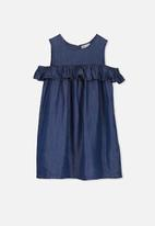 Cotton On - Immie short sleeve dress - blue