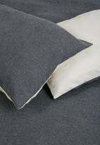 Sheraton Textiles - Linen blend duvet cover set - grey