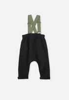 Cotton On - Pete brace trouser - black