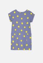 Cotton On - Greer short sleeve dress - blue