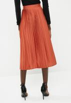 dailyfriday - Knife pleat midi skirt - orange