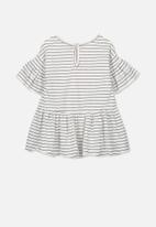 Cotton On - Maddy ruffle dress - white & navy