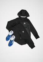 adidas Originals - Graphic tracksuit - black & grey