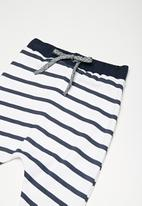dailyfriday - Kids girls traveller pants - blue & white