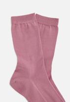 Falke - Mercerised cotton anklet socks - pink