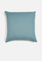 Hertex Fabrics - Rupert ocean cushion cover - blue