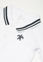 name it - Kids boys long sleeve polo top - white
