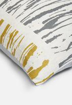 Hertex Fabrics - Rupert zest cushion cover - yellow & grey