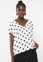 Superbalist - V-neck blouse - white & black