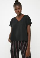 Superbalist - V-neck blouse - black