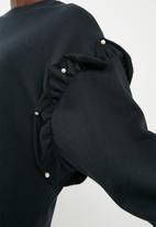 Superbalist - Pearl detail sweat - black