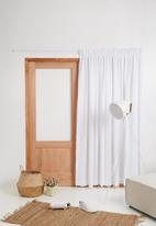Sixth Floor - Taped lined curtain - white