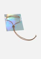 Missguided - Moon bolo necklace - bronze