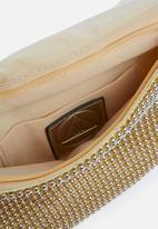 Missguided - Chainmail foldover clutch - gold